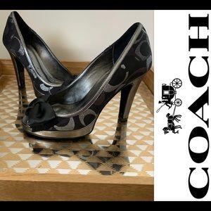 NEW IN BOX Coach High Heel Shoes Monogram Logo